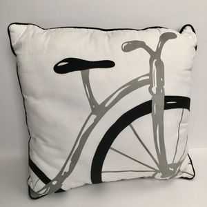 🍁 Bicycle Throw Accent Pillow Artistic Bike 14x14